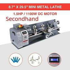 New ListingSecondhand 8.7 × 29.5 Auto Mini Lathe Metalworking 1.5Hp Metal Gear W/ 5 Tools