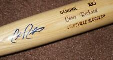 BALTIMORE ORIOLES CHRIS RICHARD SIGNED GAME BAT