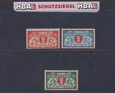 Danzig 147-149F ** Freimarken,3 Werte,je ohne Rosettenunterdruck postfr. geprüft