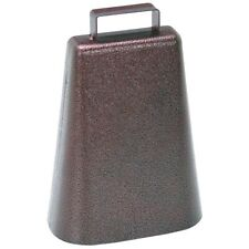 (2-two)Steel Cow Bell Antique Copper Finish Cowbell Music Sports Pep Rally Cheer