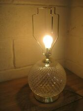 Glass Retro Table Lamp 1970s Large Circular Moulded Gold Plate