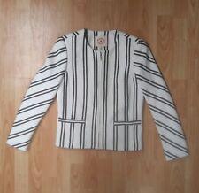 Brooks Brothers - Red Fleece - Crop Textured Jacket - UK 6 - Beige Black Stripe