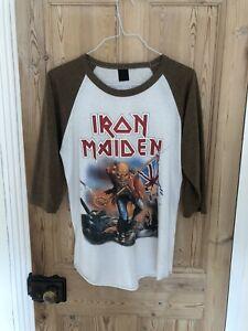 Iron Maiden Vintage Inspired Baseball T-Shirt