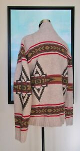 Pendleton Men's Cardigan Wool Southwest Native Sweater Jacket Sz L