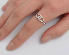 USA Seller Couple Open Heart Ring Sterling Silver 925 Best CZ Jewelry Size 10