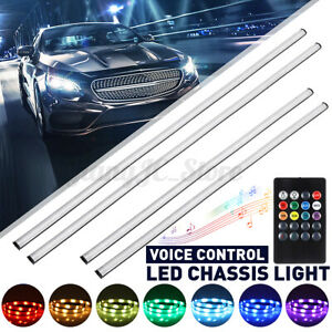 Voice Control Car LED Strip Light Interior Chassis Colorful Atmosphere Rhythm **
