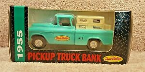 1993 ERTL 1/25 Scale Diecast 1955 Pickup Truck Chevy Bank Coin True Value #12