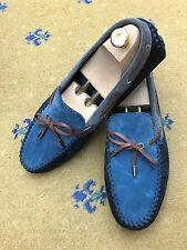 Louis Vuitton Mens Shoes Blue Black Suede Loafers Drivers UK 9 US 10 43 Arizona