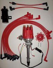 Small Cap CORVETTE Tach Drive RED HEI Distributor +Black 45K Coil +wires over VC