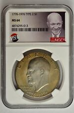 1776 ~ 1976-D Type 1 Eisenhower Dollar NGC MS64 IKE SARCE VARIETY TYPE I L@@K!!