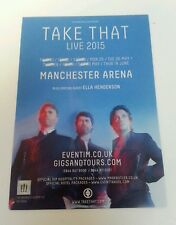 "TAKE THAT - 2015 Tour Flyer 5.12""X8.2"" Collectible For Framing Manchester Gig UK"