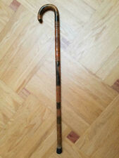 Vintage Carved Wood Cane from Mexico