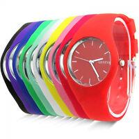 Fashion Unisex Women Girl Boy Geneva Silicone Quartz Analog Sports Wrist Watch-