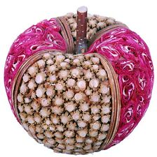 Wood Slice Mosaic Apple Natural Country Fruit Craft Floral Decor Filler New 523x