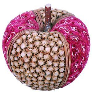 Wood Slice Mosaic Apple Natural Country Fruit Craft Floral Decor Filler 523f