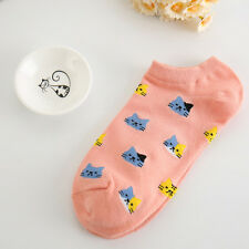 Womens Sport Casual Cute Cat Ankle High Low Cut Cotton Socks HOT