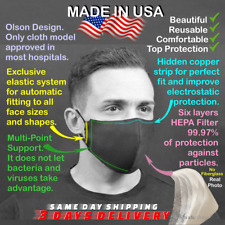 Face Mask Pocket + HEPA 99.97% ✔NoFiberglass ✈✉Fast Free Ship Same Day