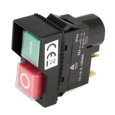 125V KJD17 IP54 Switch 4 Pin No-Voltage Release Switch Plastic Pushbutton Switch