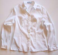 Prada Women's Button Down Blouse White Size 42