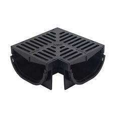Everhard Industries EasyDRAIN COMPACT CORNER CHANNEL WITH 80mm POLYMER GRATE