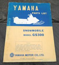 Original 1976 Yamaha GS300 Snowmobile Parts List/Manual LIT-10018-98-00