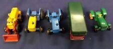 Lot of 5 Matchbox Cars-#43 Aveling-Barford Tractor Shovel Etc Lot#23-1000