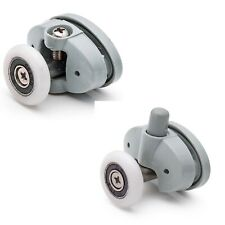 Set of 8 Single Shower Door Rollers /Runners /Wheels 23mm or 25mm wheel dia L051