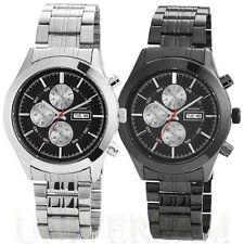 Akzent Armbanduhren aus Edelstahl mit Glanz-Finish und Datumsanzeige