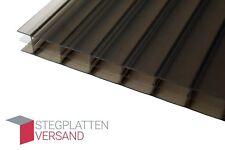 Stegplatten Doppelstegplatten 16mm Bronze Polycarbonat Hohlkammerplatten Muster