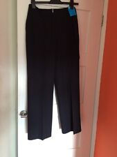 Ladies New With Tags Old Retro Style Black Trousers 28 In Waist