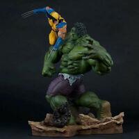 Marvel Hulk vs. Wolverine PVC Maquette Statue Figure Collectible Toys 14'' W/Box