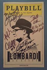 LOMBARDI Signed Playbill (Vinve, GREEN BAY PACKERS) Dan Lauria + Judith Light
