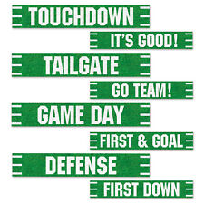 "4 FOOTBALL Superbowl Tailgate Party STREET SIGN CUTOUTS Decorations 4"" x 24"""