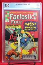 FANTASTIC FOUR #40 (Marvel 1964) PGX 8.0 VF Very Fine - DOOM & DAREDEVIL +CGC!!!