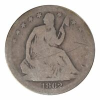 1862-S Seated Liberty Half Dollar Good