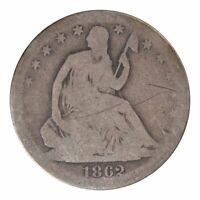 1862-S Seated Liberty Half Dollar Good