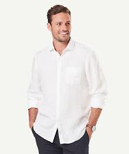 GAZMAN Men's Linen Plain Shirt White