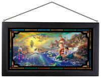 Thomas Kinkade Little Mermaid 13 x 23 Framed Glass Art