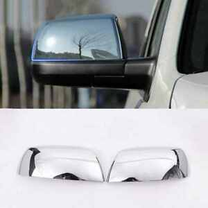 For 2007-2020 Toyota Tundra Sequoia Top Half Chrome Mirror Covers Trims