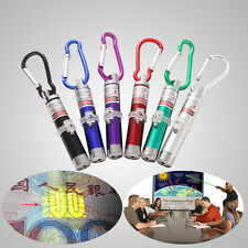 3in 1 Laser Light Key Chain Pointer Beam Ring + LED Flashlight Torch + UV Light