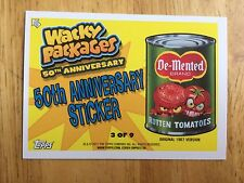 2017 WACKY PACKAGES 50TH ANNIVERSARY STICKER DE-MENTED ROTTEN TOMATOES 3 PSYCHO