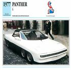 Panther 6 V8 Turbo Cadillac Eldorado 1977 GB/UK CAR VOITURE CARTE CARD FICHE
