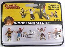HO Scale Model Railroad Trains Layout Woodland Scenics Firemen Figures 1882