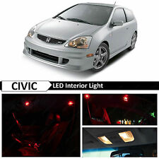 7x Red LED Lights Interior Package Kit for 2001-2005 Honda Civic SI EP3
