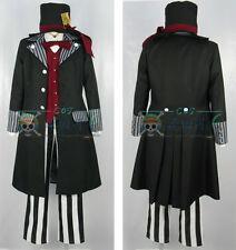 Full Set Black Butler Kuroshitsuji Undertaker Cosplay Costume Any Size