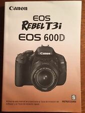 Canon EOS Rebel T3i 600D User's Manual in SPANISH Instrucciones - 323 pages