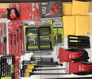 Lot#38 Of 27 Items Small Handtool/accessories Milwaukee,ryobi,irwin And More