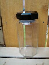 Arcoroc Octime France Storage Jars Canister Hard to find Black Lid