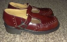 Dr. Martens Burgundy Mary Jane Shoes Size 7