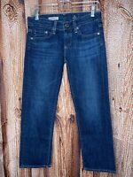 AG Adriano Goldschmied Women's Sz 25 The Tomboy Cropped Relaxed Straight Jeans